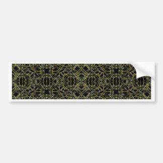 Golden Geo Tribal Pattern Bumper Sticker