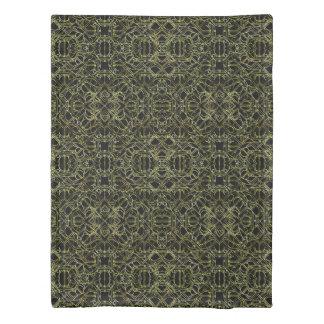 Golden Geo Tribal Pattern Duvet Cover