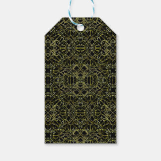 Golden Geo Tribal Pattern Gift Tags