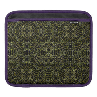 Golden Geo Tribal Pattern iPad Sleeve