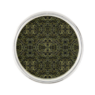 Golden Geo Tribal Pattern Lapel Pin