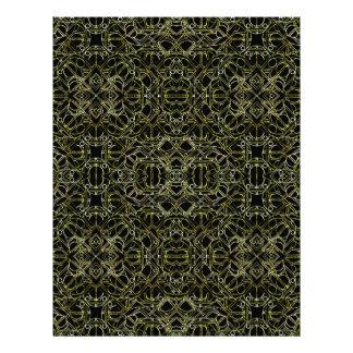 Golden Geo Tribal Pattern Letterhead