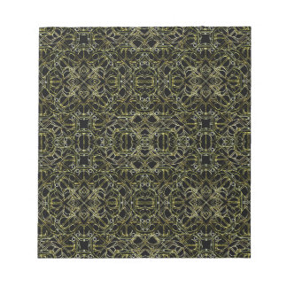 Golden Geo Tribal Pattern Notepad