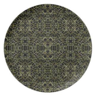 Golden Geo Tribal Pattern Plate