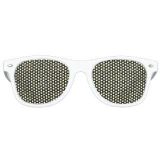 Golden Geo Tribal Pattern Retro Sunglasses