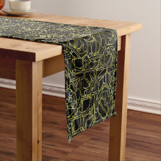 Golden Geo Tribal Pattern Short Table Runner