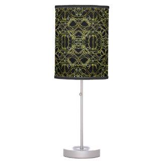 Golden Geo Tribal Pattern Table Lamp