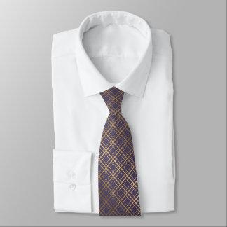Golden geometric background luxurious tie