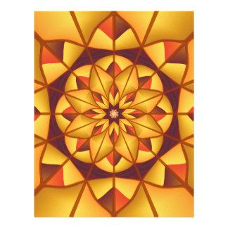 Golden geometric flourish custom flyer