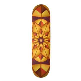 Golden geometric flourish custom skate board
