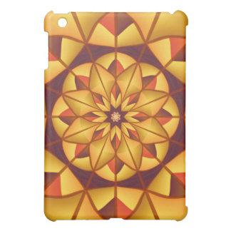 Golden geometric flourish iPad mini cases