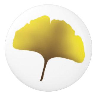 Golden Ginko knob Ceramic Knob