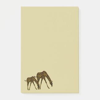 Golden Giraffe Post-it Notes