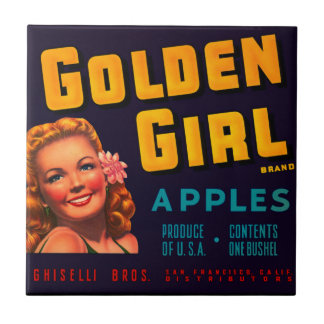 Golden Girl Apples Tile