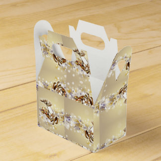 Golden Glass Holiday Reindeer Favor Box