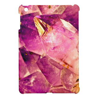 Golden Gleaming Amethyst Crystal Case For The iPad Mini