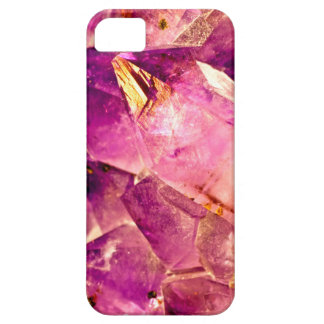 Golden Gleaming Amethyst Crystal Case For The iPhone 5