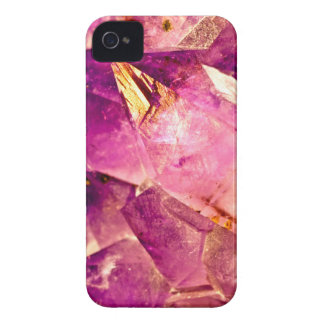 Golden Gleaming Amethyst Crystal iPhone 4 Case-Mate Cases