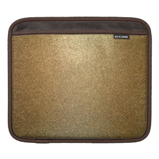 Golden Glitter Abstract Art Horizontal iPad Sleeve