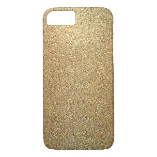 Golden Glitter Abstract Art iPhone Case