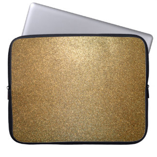 Golden Glitter Abstract Art Laptop Sleeve