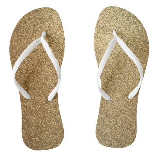 Golden Glitter Abstract Art Slim Strap Sandals