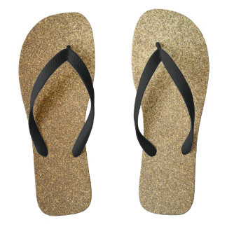 Golden Glitter Abstract Art Wide Strap Sandals