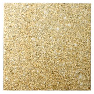 Golden Glitter Diamond Ceramic Tile