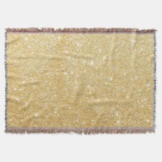 Golden Glitter Diamond Throw