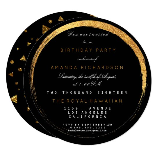 Golden Glitter Geometric Vip Party Event Luxury Card