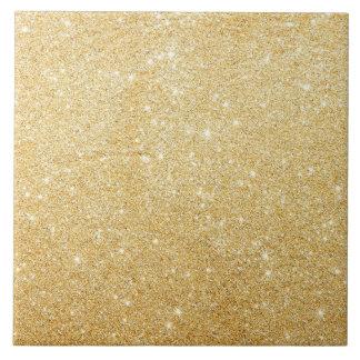 Golden Glitter Glamour Tile