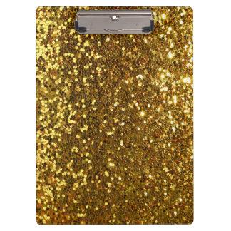 golden glitter look clipboard