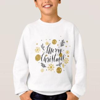 Golden glitter Merry christmas hand scripted Sweatshirt
