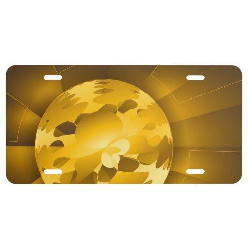 Golden Globe License Plate