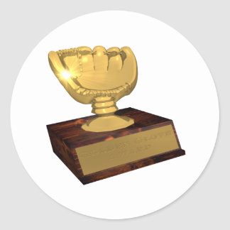 Golden Glove Award Classic Round Sticker