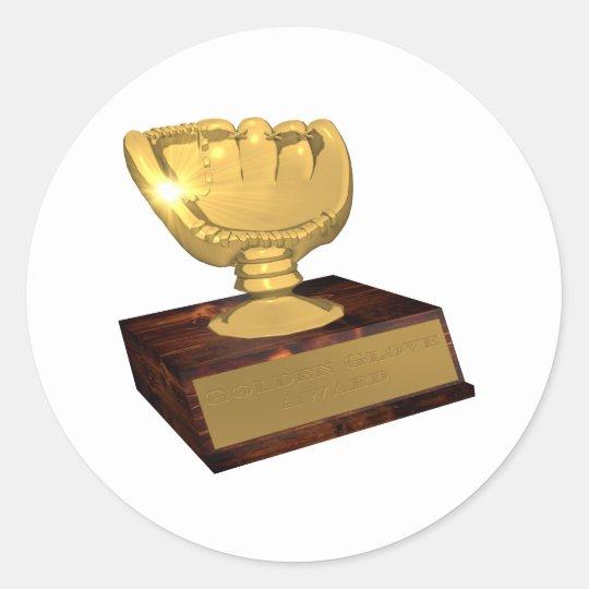 Golden Glove Award Classic Round Sticker