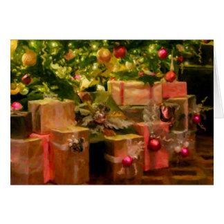 Golden Glow Christmas Greeting Card