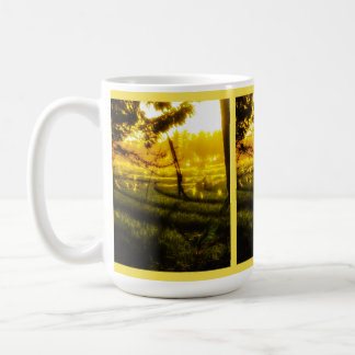 Golden Glow of Late Afternoon on Balinese Rice Fie Coffee Mug