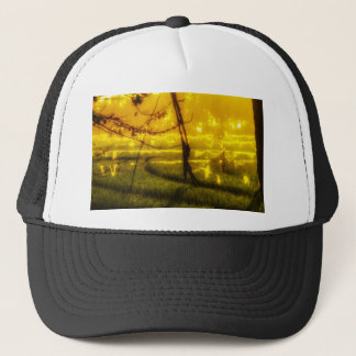 Golden Glow of Late Afternoon on Balinese Rice Fie Trucker Hat