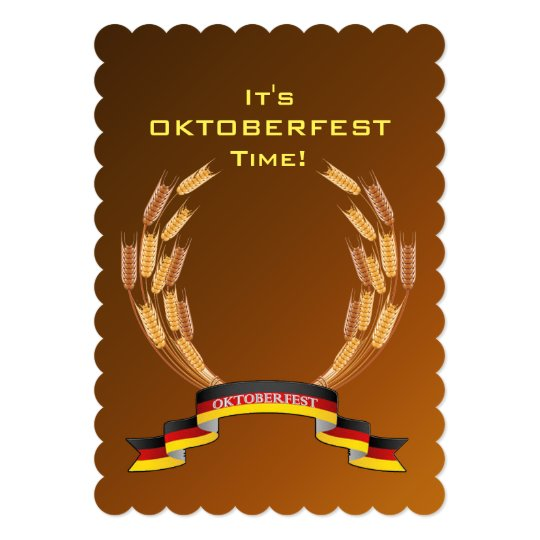 Golden Glow Oktoberfest Party Invitation