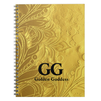 Golden Goddess Celebrate Happy 50th Birthday Party Notebooks