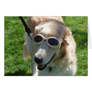 Golden Goggles Fun Birthday Card