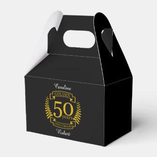 GOLDEN Golden 50 Years Wedding Anniversary 50 all Favor Box