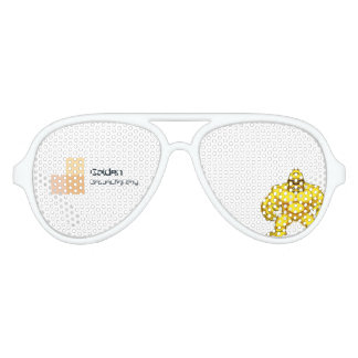 Golden Gorilla Glasses