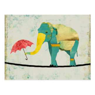 Golden Graceful Elephant Postcard