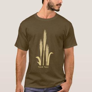 Golden Grains of Wheat Mens Long Sleeve Brown T T-Shirt
