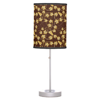 Golden Grapevine Pattern Table Lamp