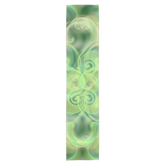 golden, green and black shiny festive colored old short table runner