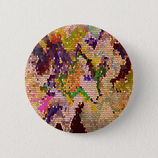 Golden Green Lucky Patterns 2 Inch Round Button