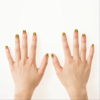 Golden Grenada Flag Minx Nail Art